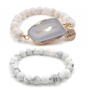 Kinsley Armelle Geode Bracelet Set